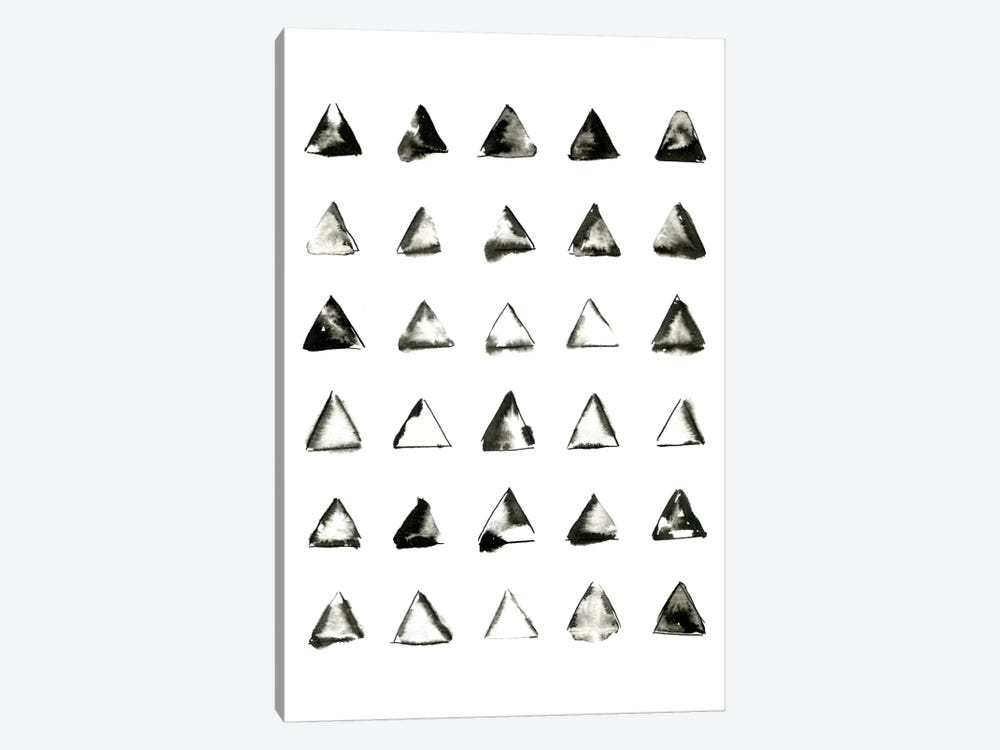 Triangles by LEEMO 1-piece Canvas Art Print