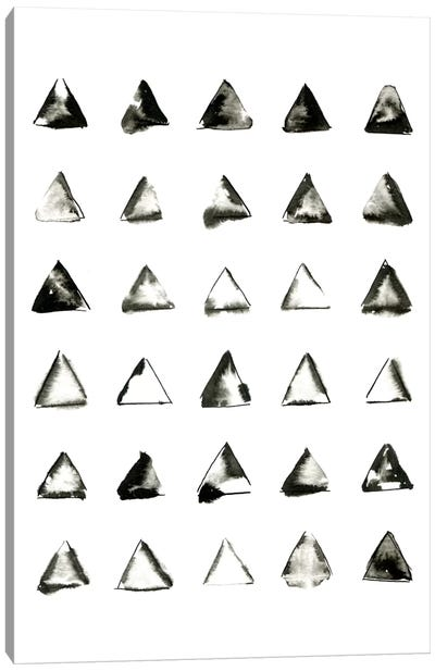 Triangles Canvas Art Print