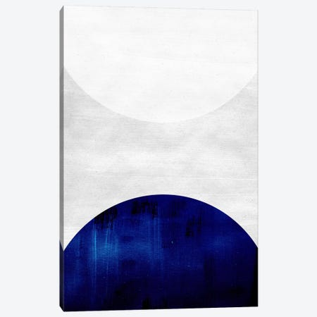 White & Cobalt Canvas Print #LMO70} by Leemo Canvas Art Print