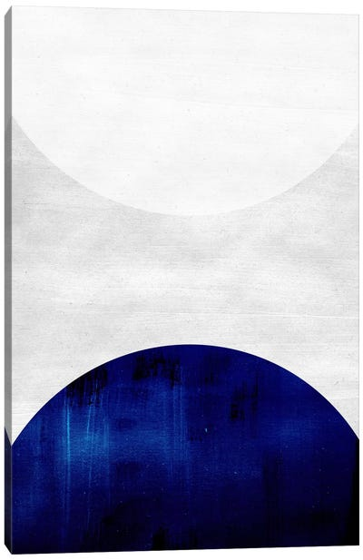 White & Cobalt Canvas Art Print