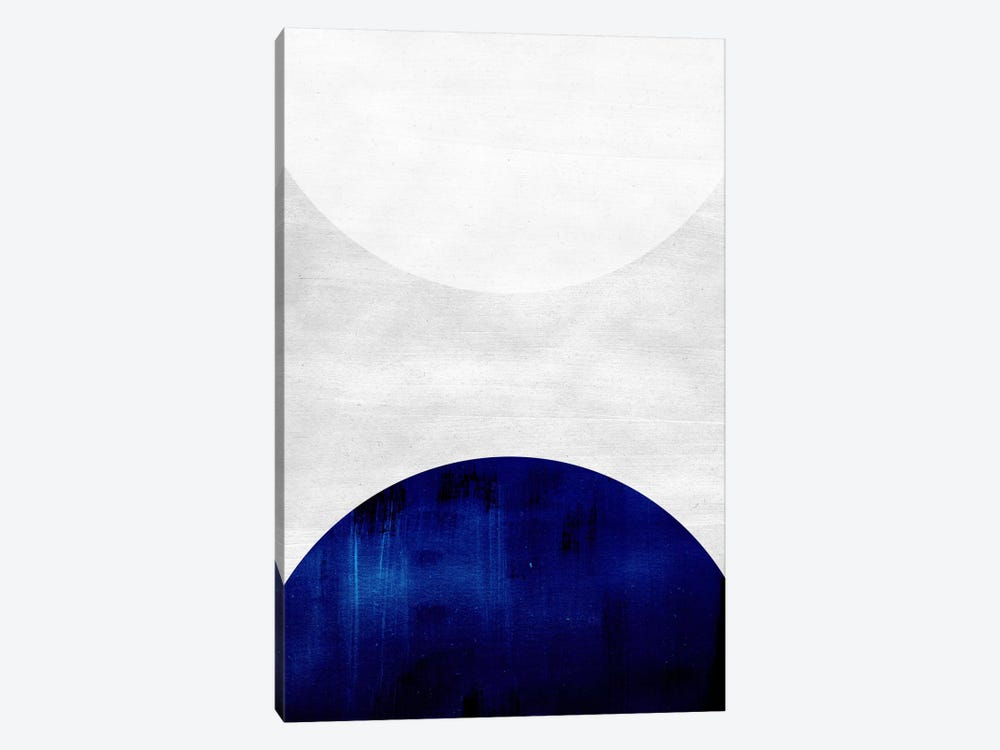 White & Cobalt by LEEMO 1-piece Canvas Wall Art