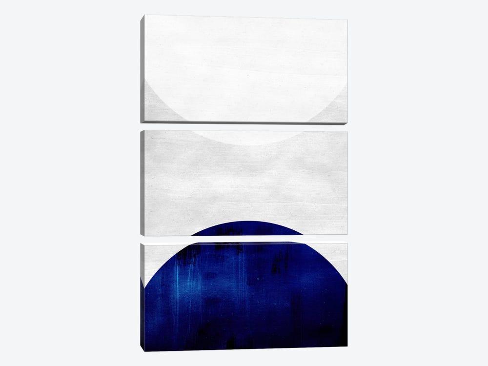 White & Cobalt by LEEMO 3-piece Canvas Art