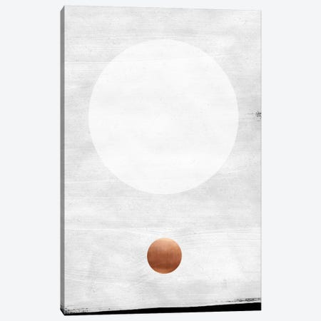White & Copper Canvas Print #LMO71} by Leemo Canvas Print