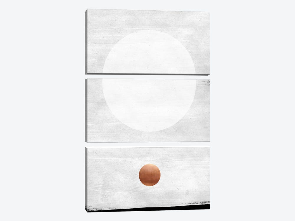 White & Copper by LEEMO 3-piece Canvas Print