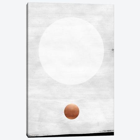 White & Copper Canvas Print #LMO71} by LEEMO Canvas Print