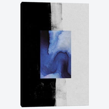 Blue Canvas Print #LMO75} by Leemo Canvas Artwork
