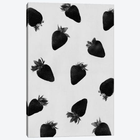 Black Strawberries Canvas Print #LMO8} by LEEMO Art Print