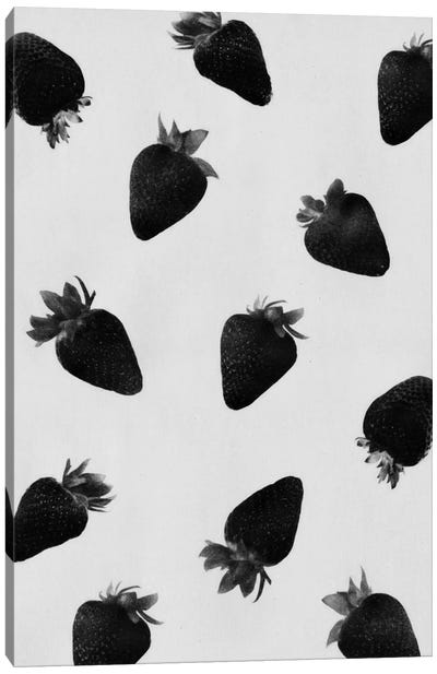 Black Strawberries Canvas Art Print