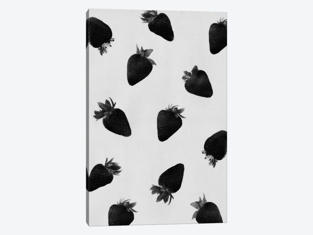 Black Strawberries by LEEMO 1-piece Canvas Art