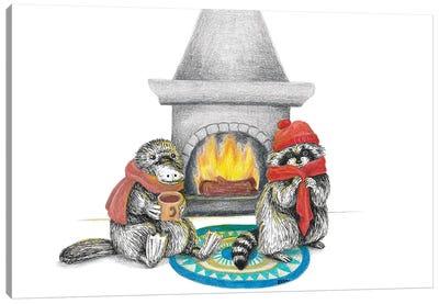 Fireplace Canvas Art Print