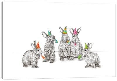 Bithday Bunnies Canvas Art Print