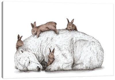 Cuddling Canvas Art Print