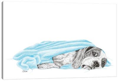 Sick Dog Canvas Art Print