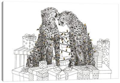 Christmas Cheetahs Canvas Art Print
