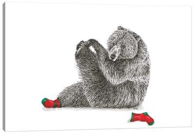 Christmas Björn Canvas Art Print