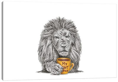 Christmas Lion Canvas Art Print