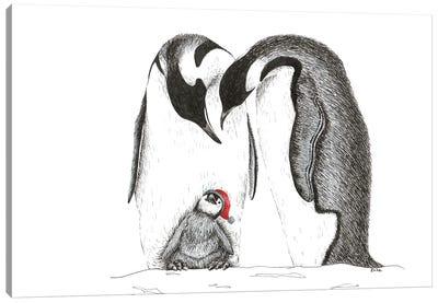 Penguinfamily Canvas Art Print