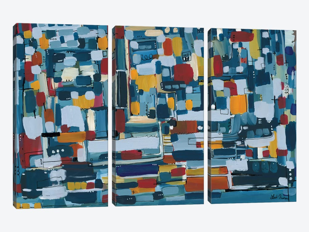 Modern Theory  by Leah Nadeau 3-piece Canvas Artwork