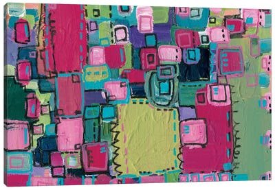 Pink Patchwork Canvas Art Print