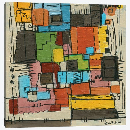 Retro Nadeau Canvas Print #LNA22} by Leah Nadeau Canvas Artwork