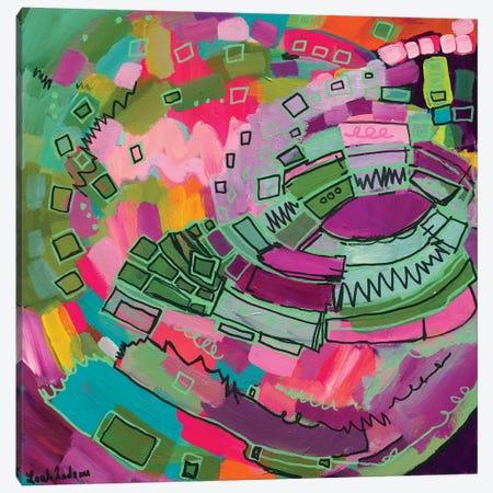 The Pink Carousel Canvas Print #LNA30} by Leah Nadeau Canvas Print