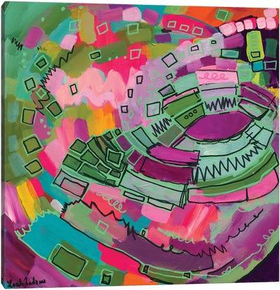 The Pink Carousel Canvas Art Print