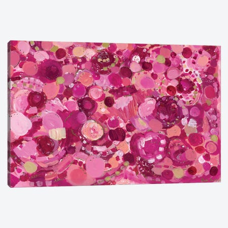 Rose Colored Joy Canvas Print #LNA35} by Leah Nadeau Canvas Artwork