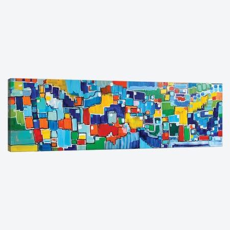 Carnival Of Color Canvas Print #LNA57} by Leah Nadeau Canvas Art
