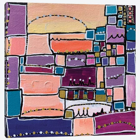 Manhattan Skyline Canvas Print #LNA65} by Leah Nadeau Canvas Art Print