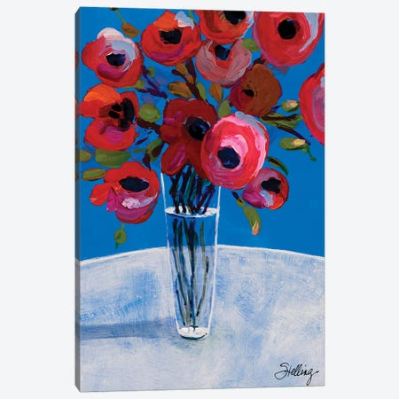 Poppies Canvas Print #LND8} by Linda Stelling Art Print