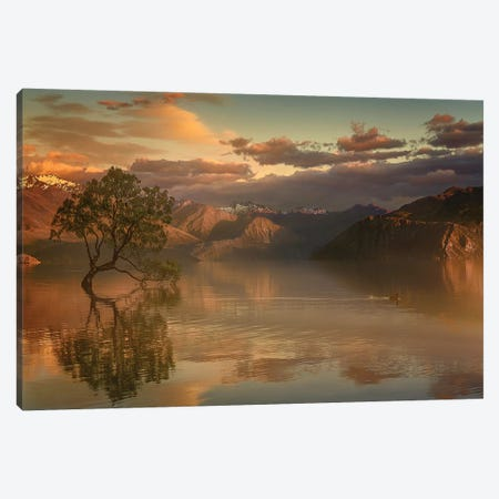 Lone Tree Not Alone 3-Piece Canvas #LNG1} by Stanley Loong Canvas Artwork