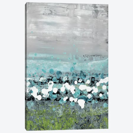 Aqua Motion Canvas Print #LNI1} by Liz Nichtberger Canvas Art