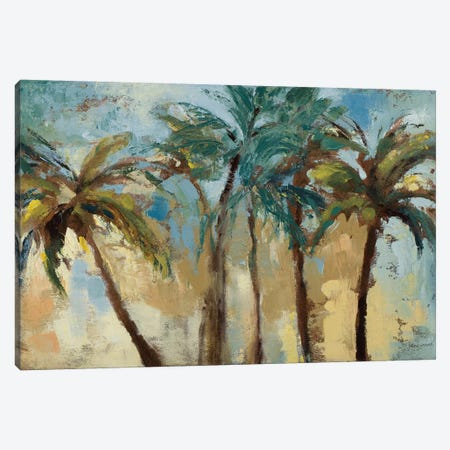 Island Morning Palms Canvas Print #LNL105} by Lanie Loreth Canvas Art Print
