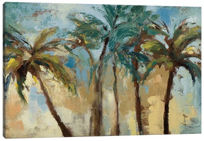 Island Morning Palms Canvas Art Print