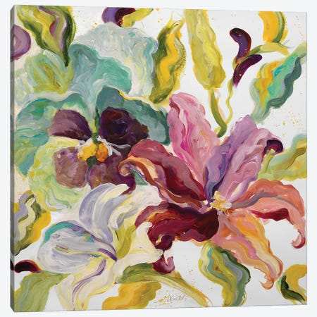 Lyrical Garden I Canvas Print #LNL116} by Lanie Loreth Canvas Artwork