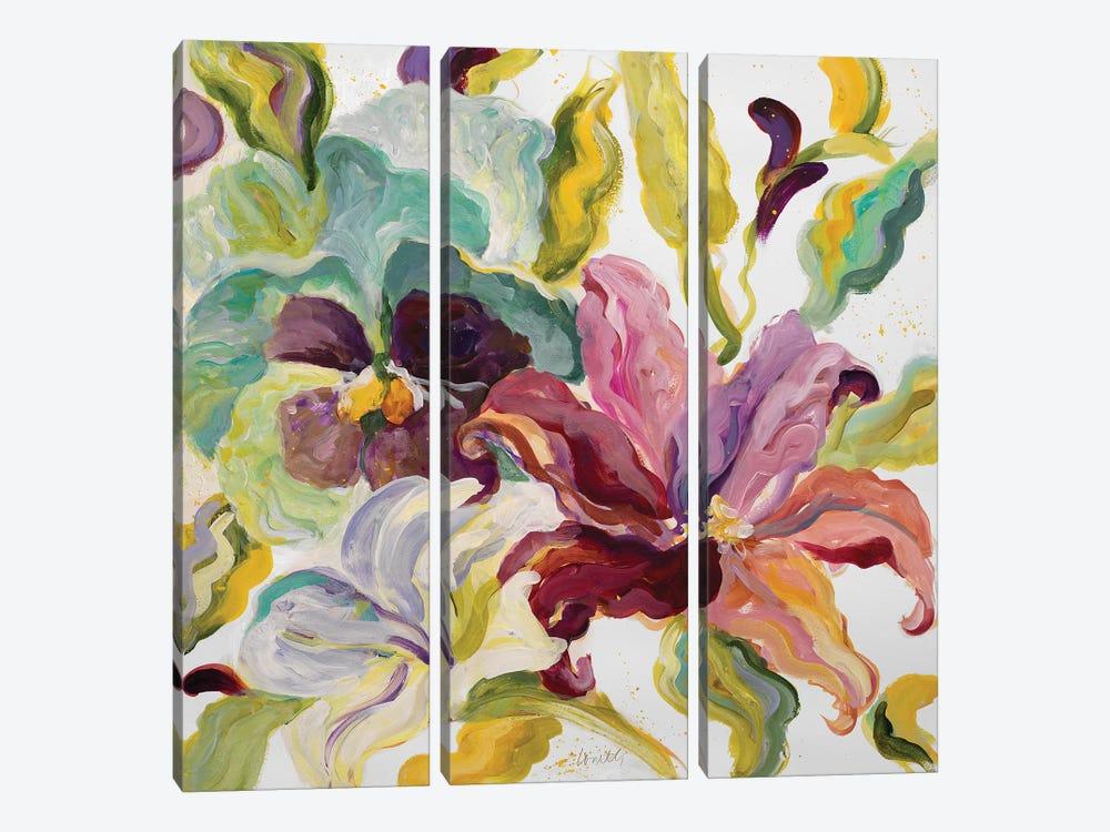 Lyrical Garden I by Lanie Loreth 3-piece Canvas Wall Art