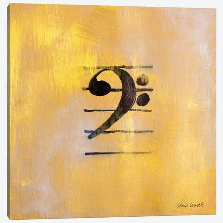 Bass Clef Canvas Print #LNL11} by Lanie Loreth Canvas Wall Art
