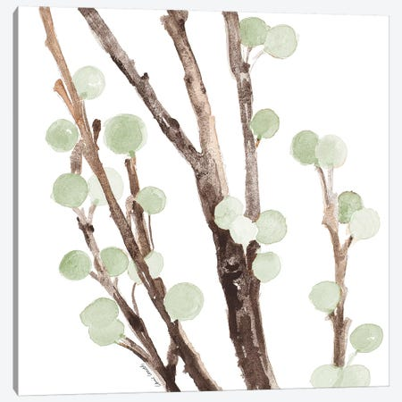 Mint Berry Stems Canvas Print #LNL120} by Lanie Loreth Canvas Artwork