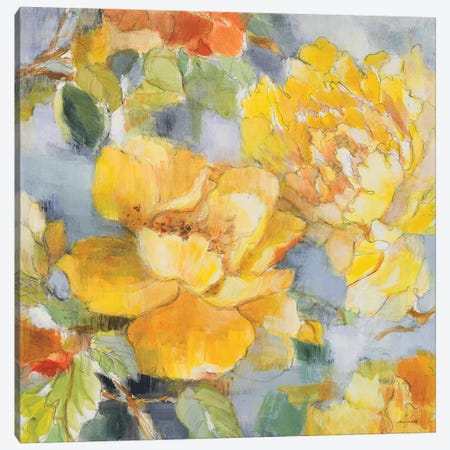 Modern Peonies II Canvas Print #LNL127} by Lanie Loreth Canvas Art Print