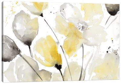 Neutral Abstract Floral II Canvas Art Print