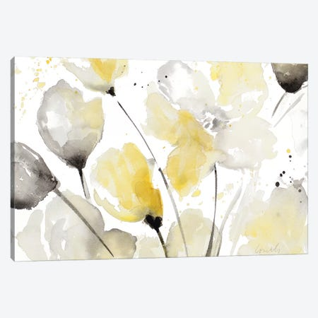 Neutral Abstract Floral II 3-Piece Canvas #LNL135} by Lanie Loreth Canvas Art