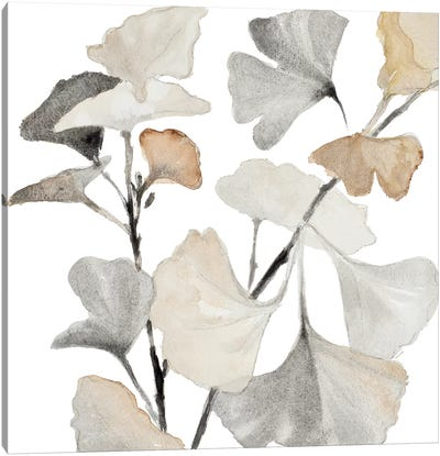 Neutral Ginko Stems I Canvas Art Print