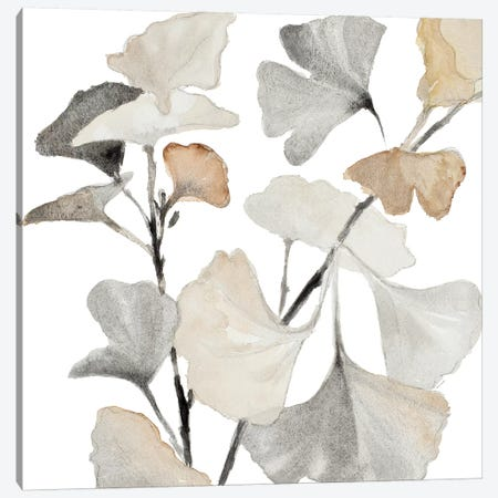 Neutral Ginko Stems I Canvas Print #LNL136} by Lanie Loreth Canvas Art