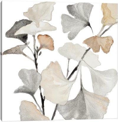 Neutral Ginko Stems I Canvas Art Print