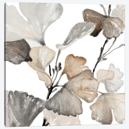 Neutral Ginko Stems II Canvas Print #LNL137} by Lanie Loreth Canvas Wall Art