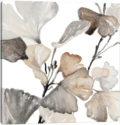 Neutral Ginko Stems II Canvas Art Print