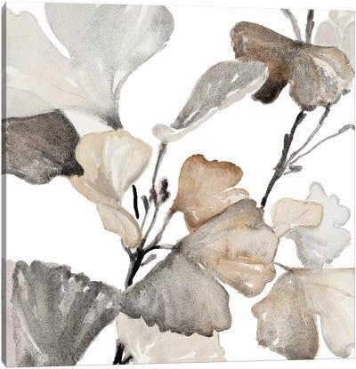 Neutral Ginko Stems II Canvas Art Print