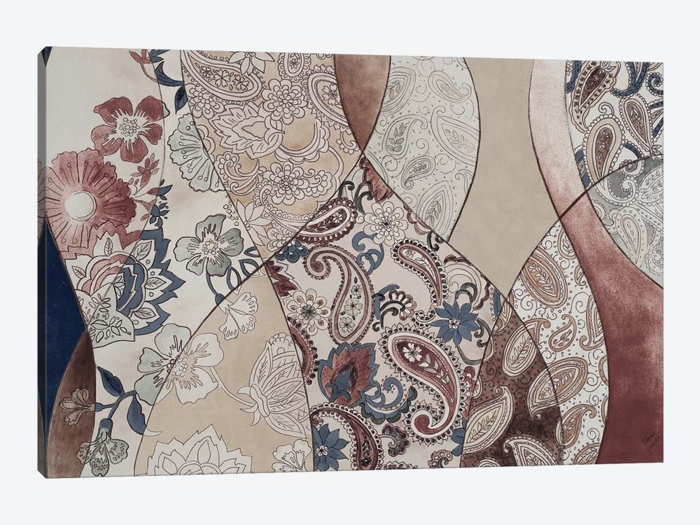 Neutral Paisley Coalescence by Lanie Loreth 1-piece Canvas Artwork
