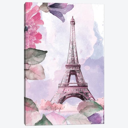 Parisian Blossoms I 3-Piece Canvas #LNL146} by Lanie Loreth Canvas Print