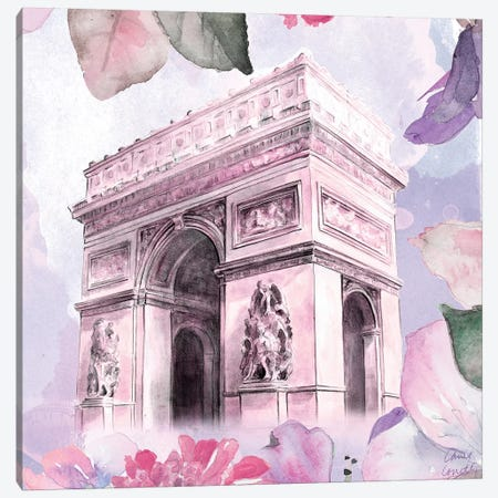 Parisian Blossoms II Canvas Print #LNL147} by Lanie Loreth Canvas Art Print
